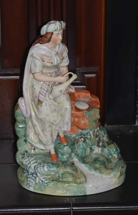 Large C19th Thomas Parr Staffordshire Figure of Rebecca at the Well