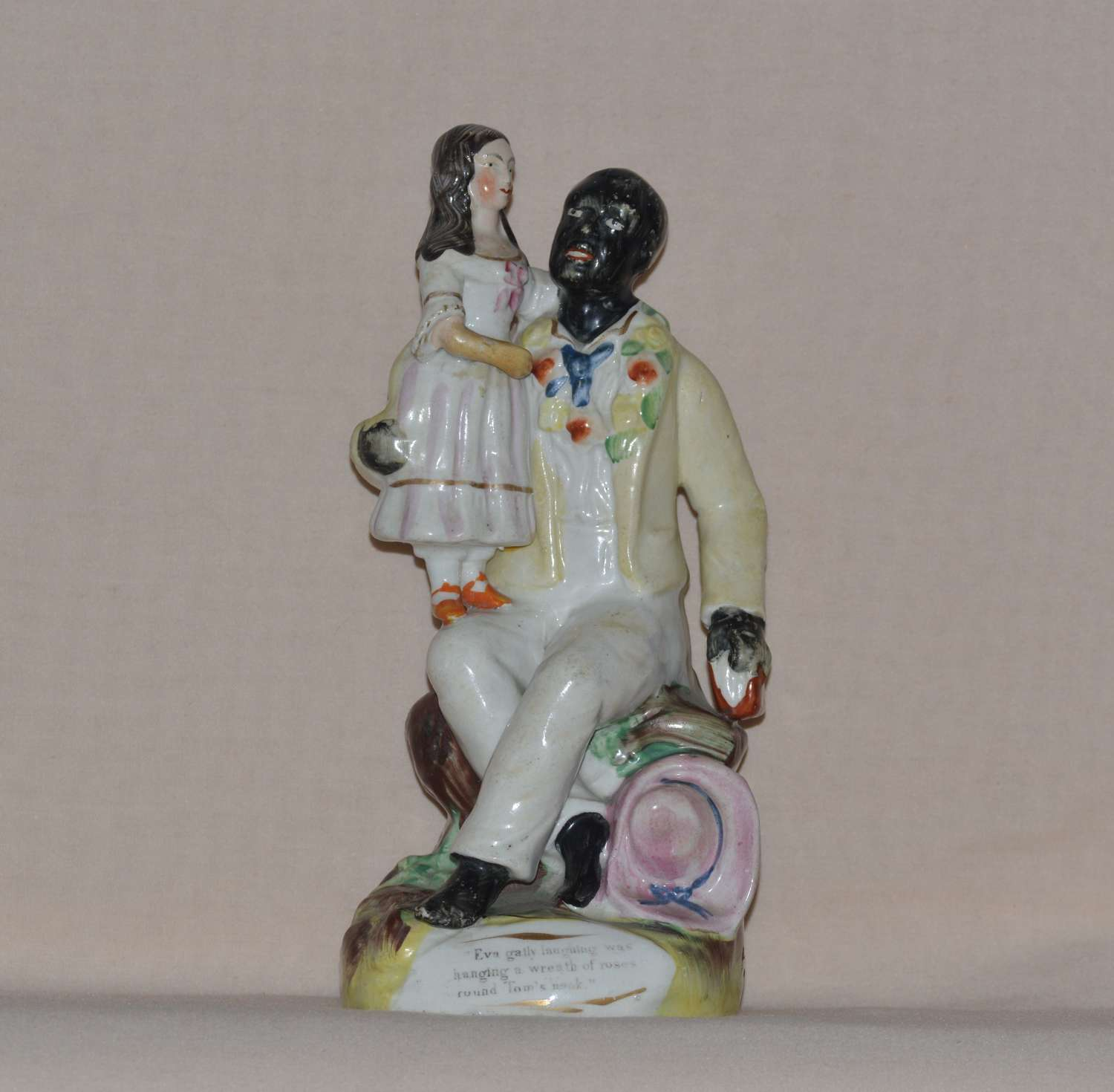 19th Century Thomas Parr Staffordshire Figure of Uncle Tom and Eva