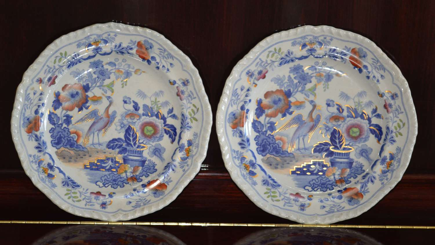 A Pair of 19th Century Imrov'd Canton China Plates