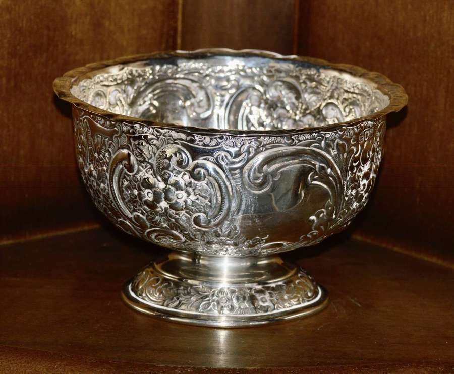 1901 Sterling Silver Bowl London's James Wakely, Frank Clark Wheeler