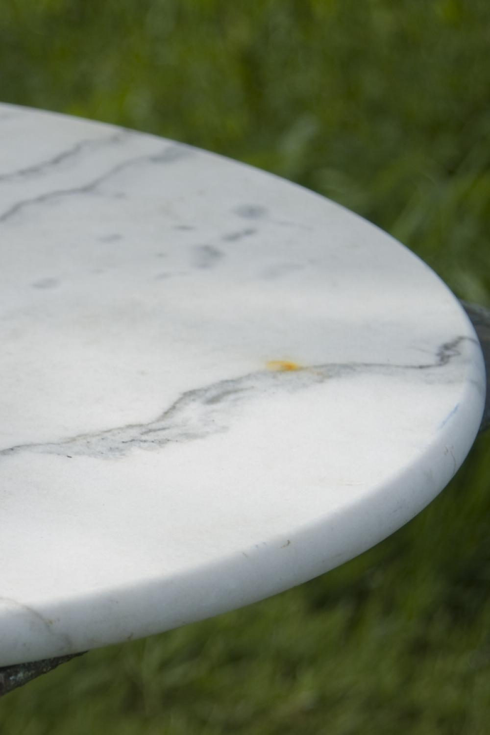 Antique French Marble top Bistro table c.1930