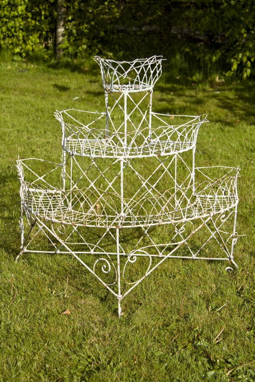 Antique Wirework Plant Stand