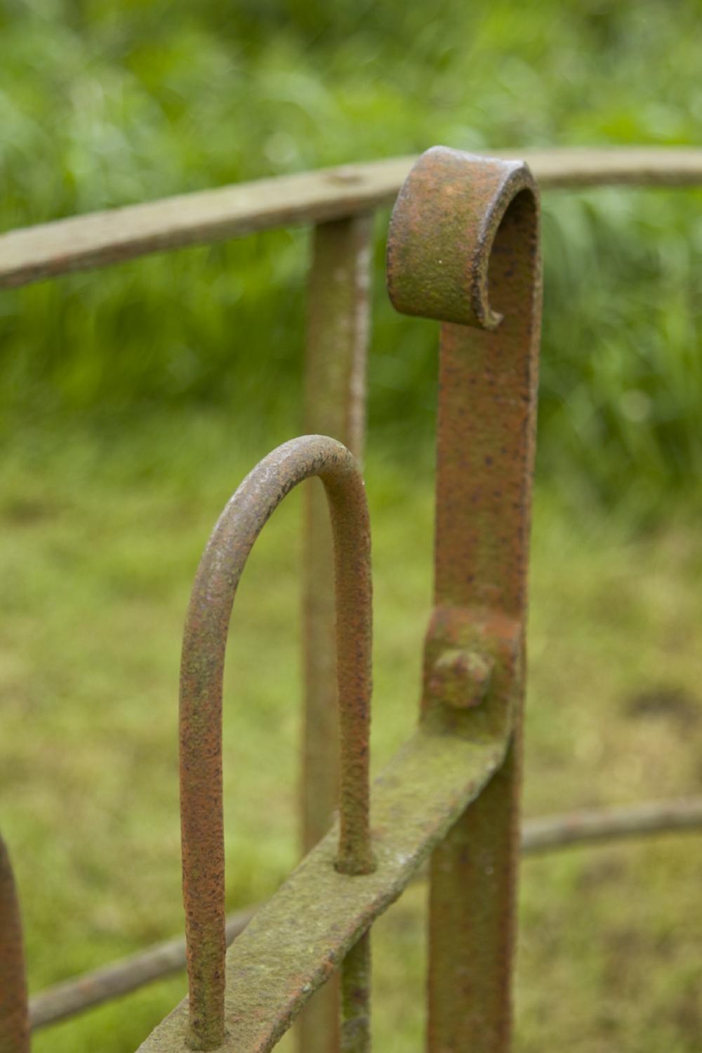 Antique wrought iron Kissing Gate