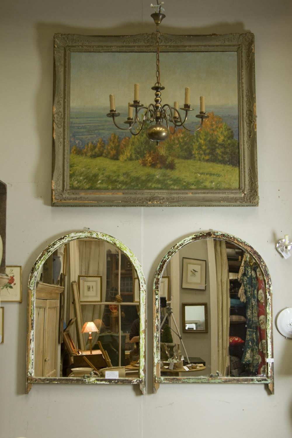 Victorian Arched Sash Window Mirrors