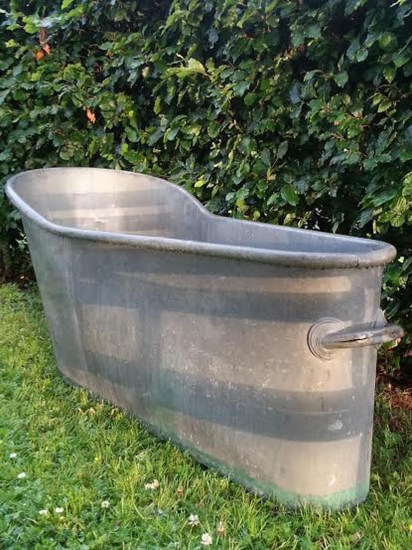 19th C French Zinc Bath