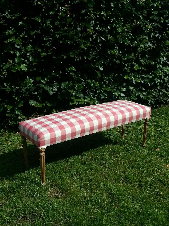 Bleached oak bed end stool