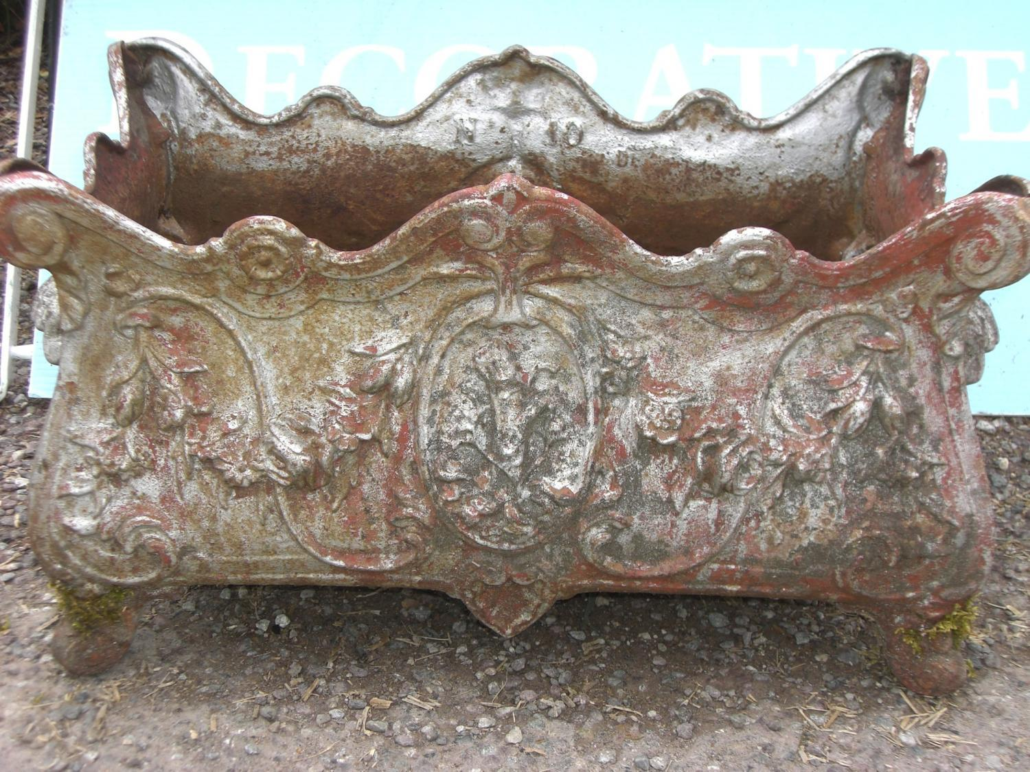 Antique French cast iron planter