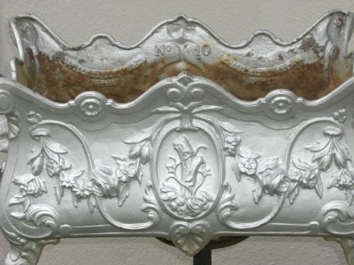 Pair of French Cast Iron Planter / Jardineres