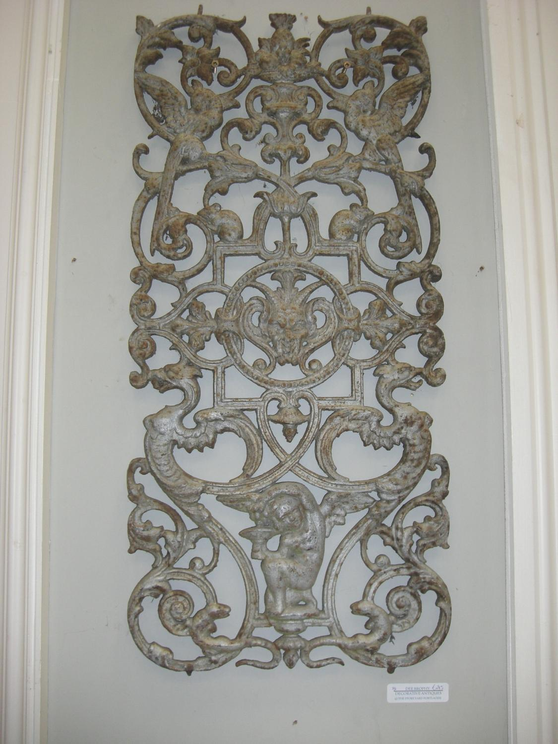 French Cast Iron Decorative Grill