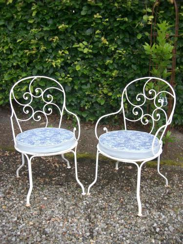 Pair of 1950's French Garden Armchairs