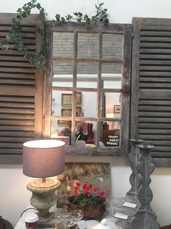 Reclaimed Pine French Window Frame Mirror