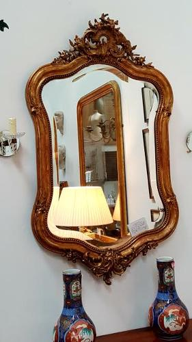 19th French Gilt Oval Mirror