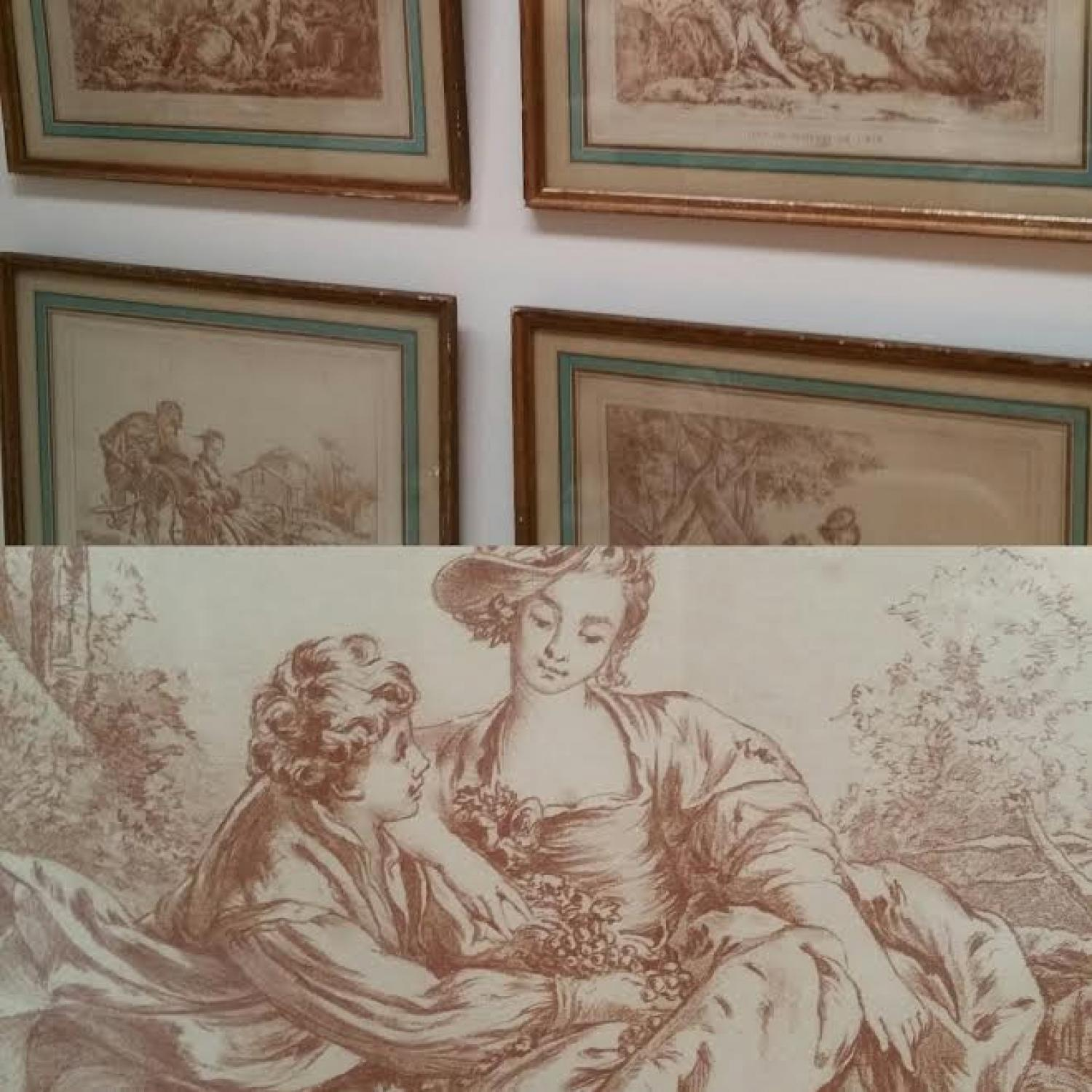 Set of 4 French four seasons prints