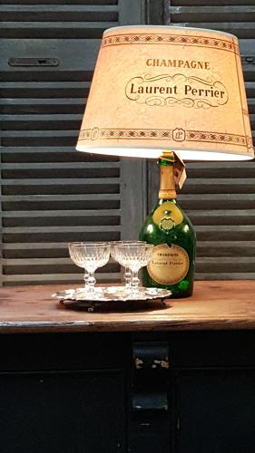 Vintage Laurent Perrier Lamp