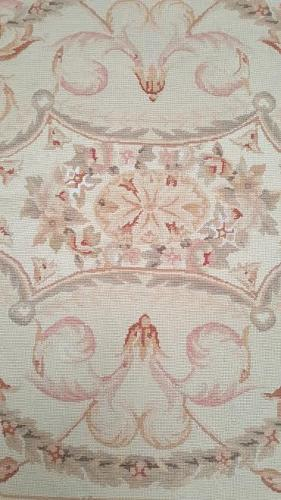 Vintage Aubusson Needlepoint Tapestry Rug