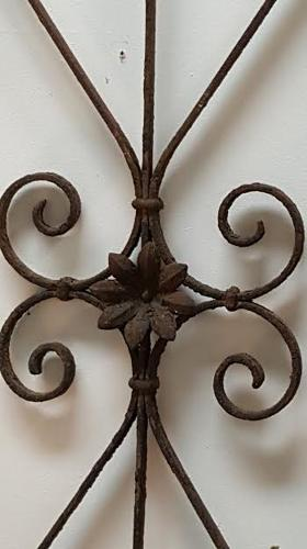 Decorative Wrought Iron French Grill