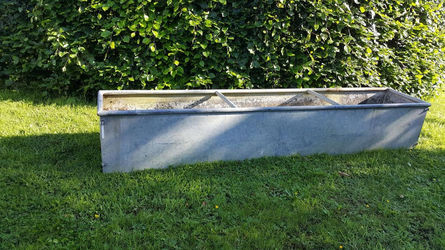 Vintage Galvanise Trough 8 feet long