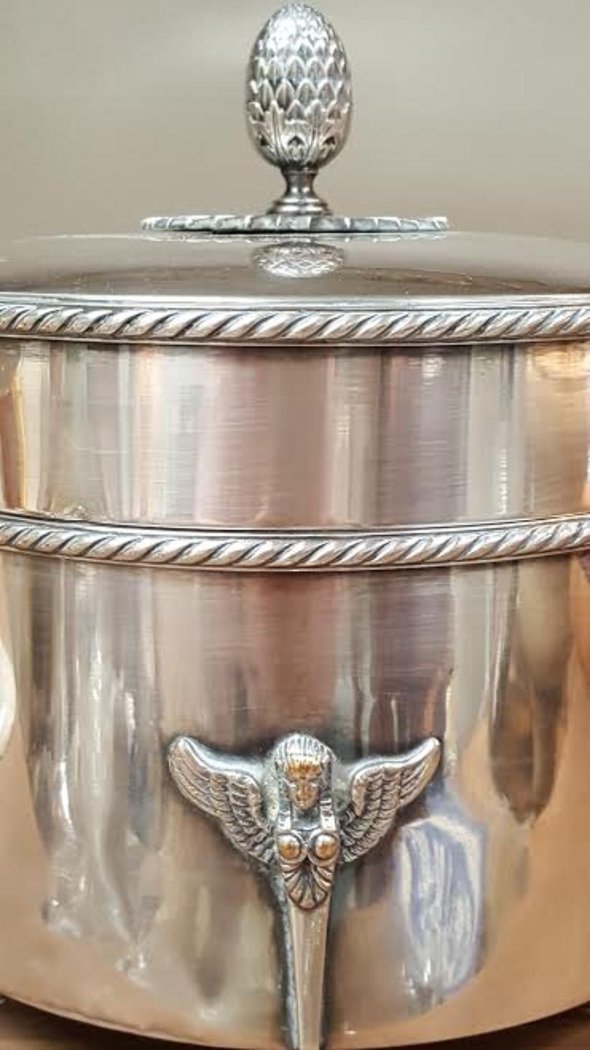 French Silver Plate Biscuit Barrel