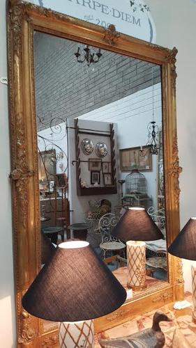 Fabulous 19th C French Mirror with mercury glass