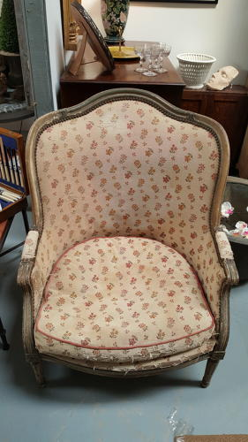 Fabulous 19thC French wingback armchair