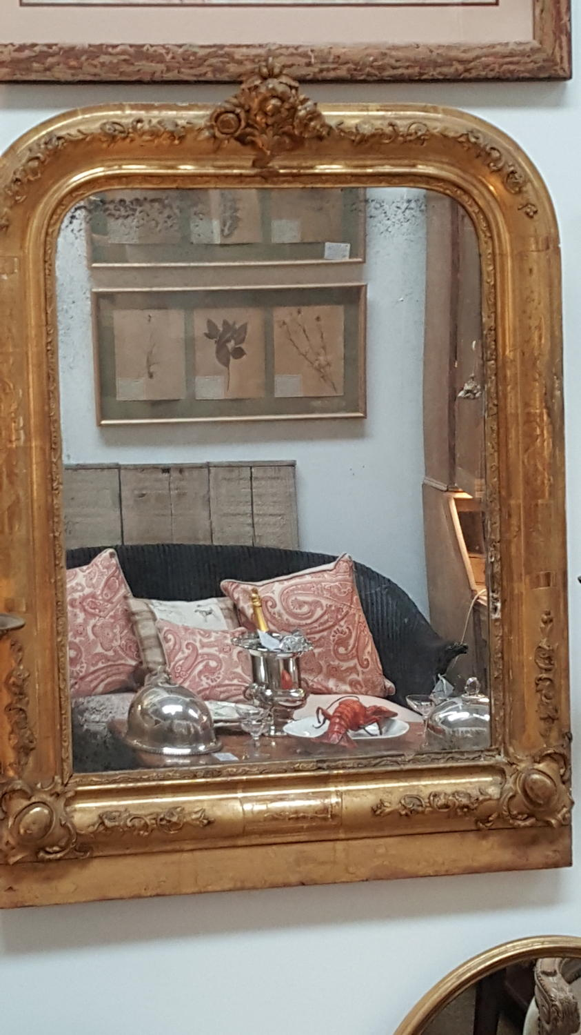 19th C French Giltwood Mirror