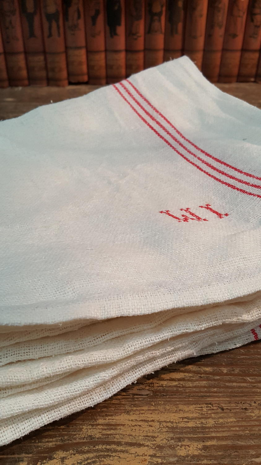 Selection of French Linen Kitchen Towels