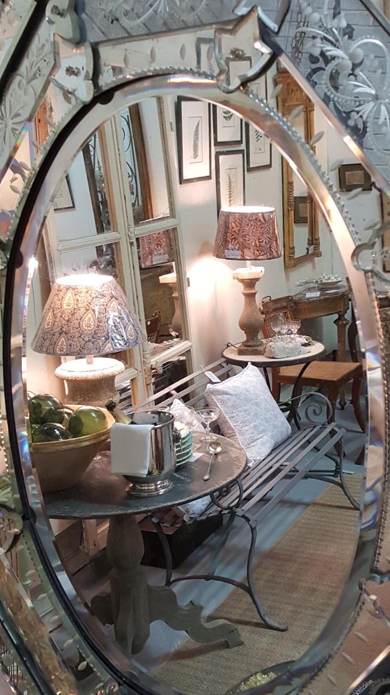 Impressive 19th C Venetian Cushion Mirror