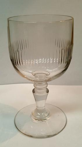 14 French 19th C Balloon wine or water glasses