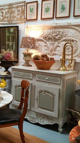 Antique French Provencale painted sideboard