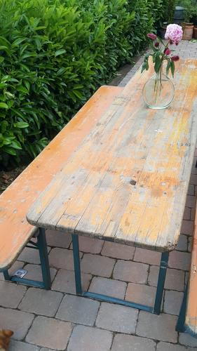 Vintage garden beer table and benches