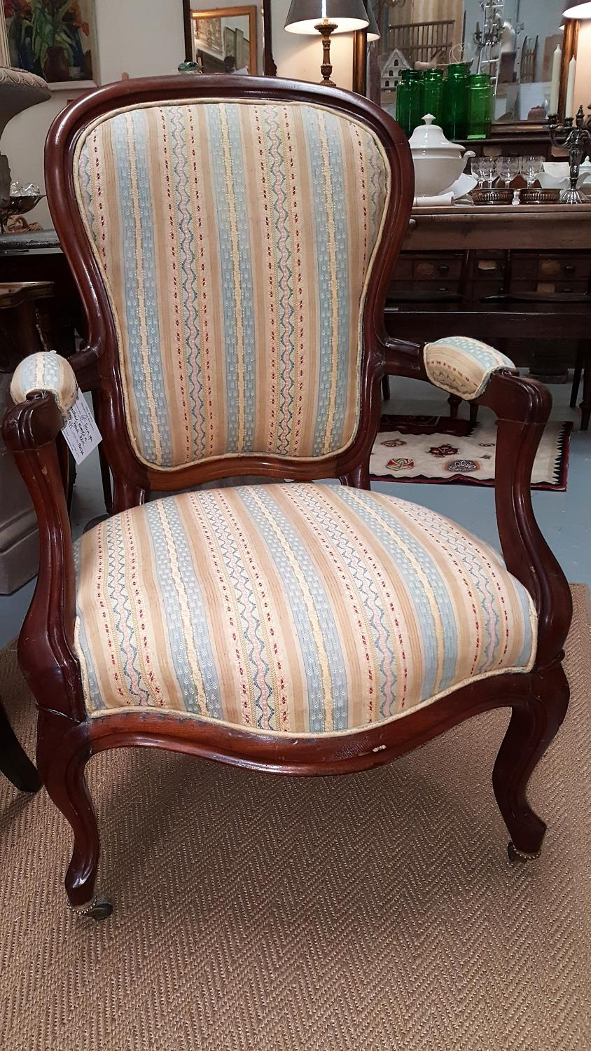 Antique French Open armchair