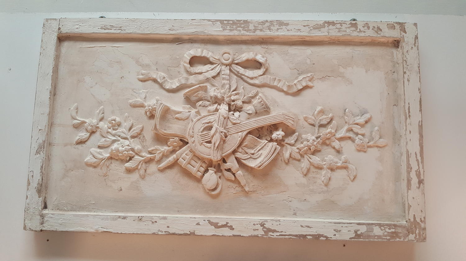 French Decorative panel ~ ribbon and lyre
