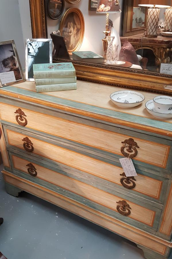 Antique French painted chest of drawers