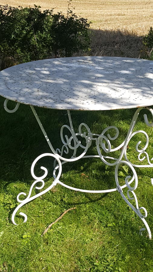 Vintage French Garden Table