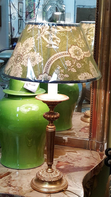 Vintage French gilt bronze lamp base