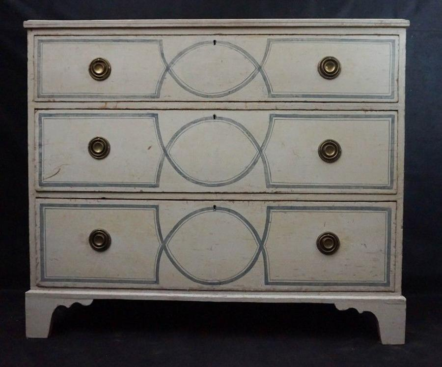 Painted Pine Chest of Drawers c.1860