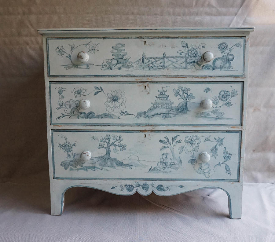 19thc Painted Pine Chest of Drawers