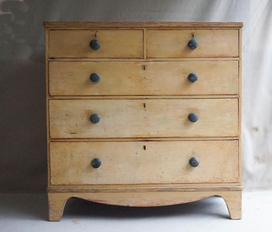 Original Painted Pine Chest of Drawers c.1830