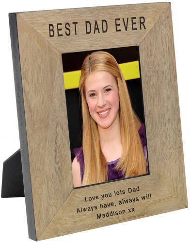 Personalised Wooden Picture Frame In Picture Frames