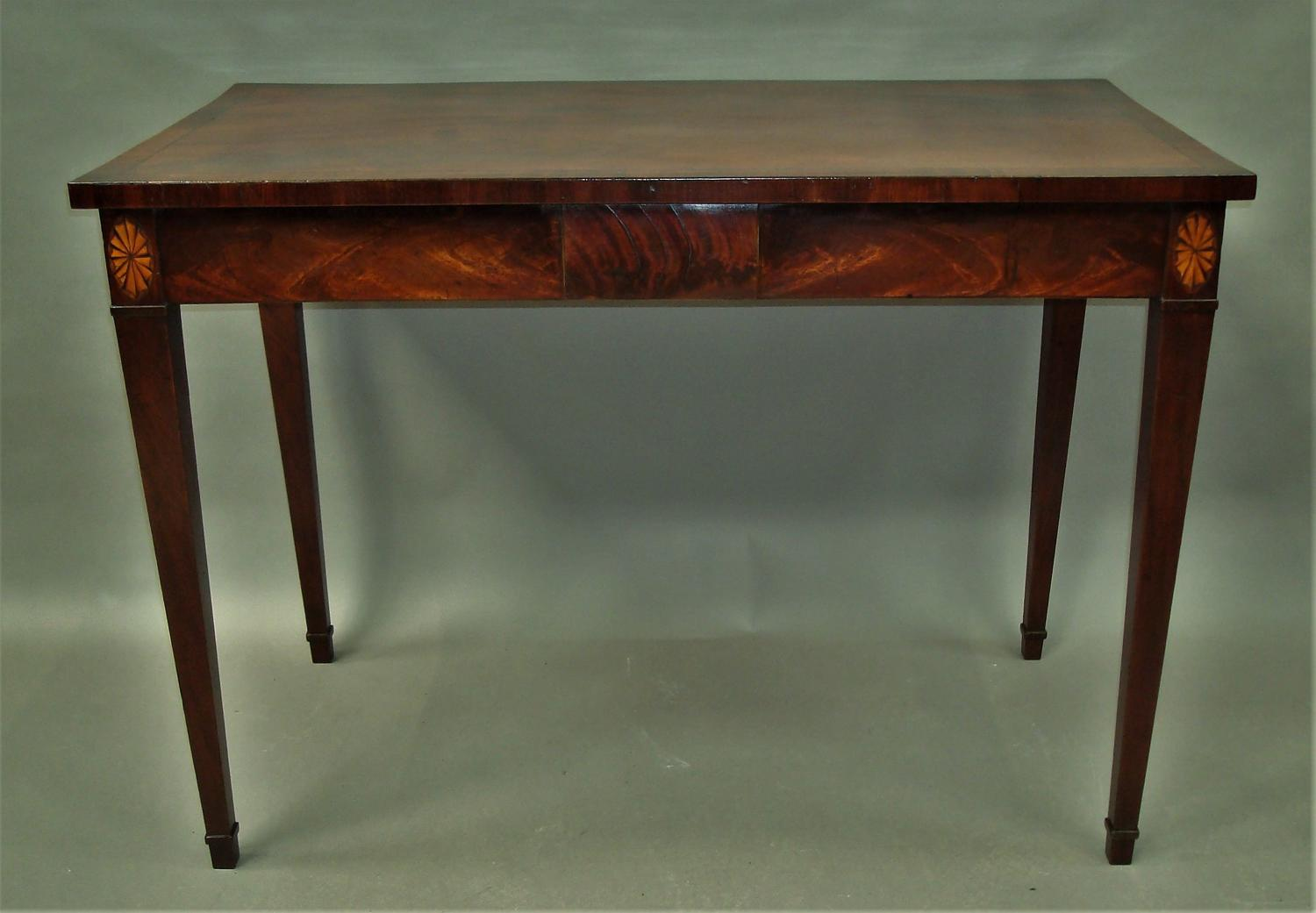 George III mahogany side table / serving table