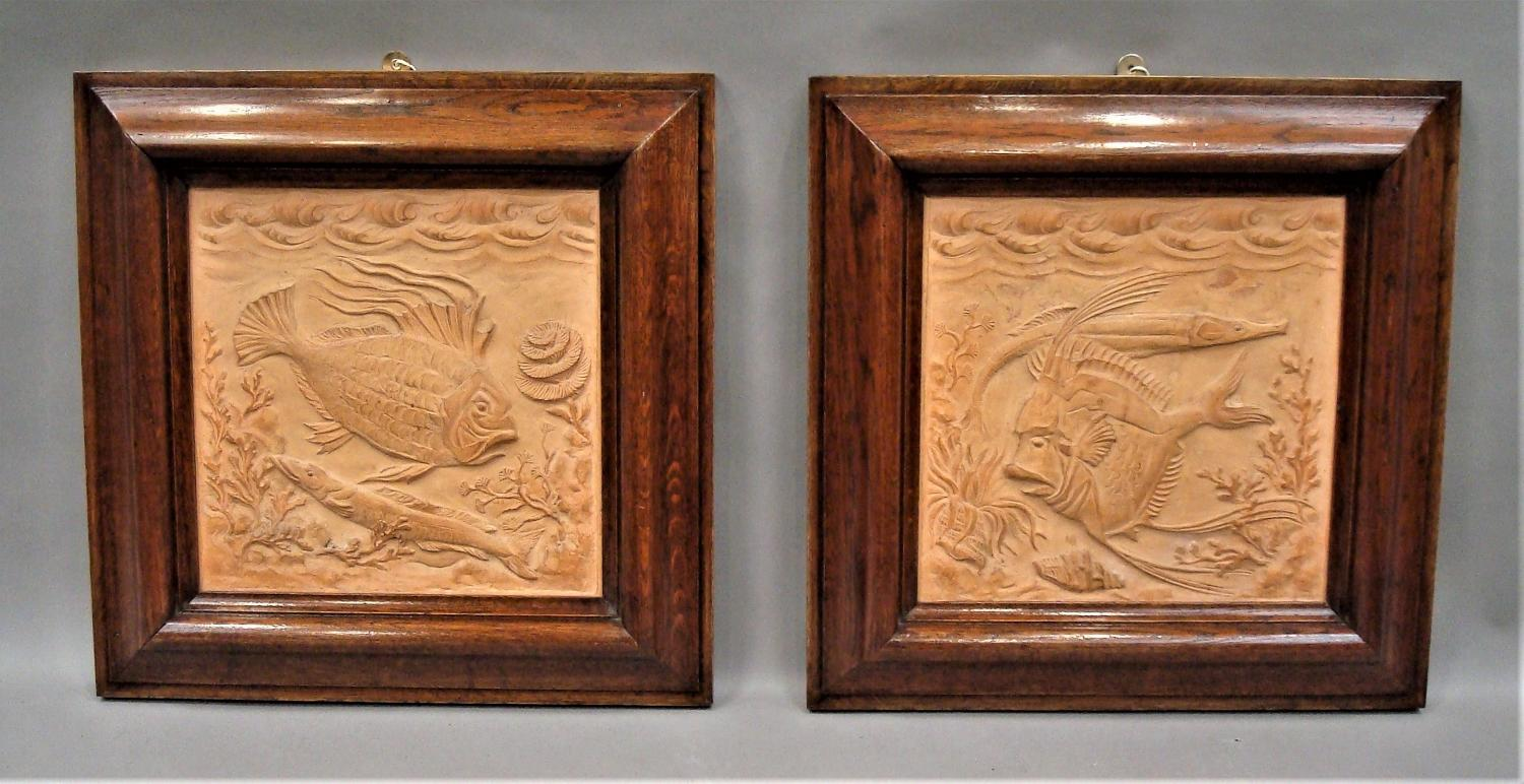 19th pair of terracotta plaques