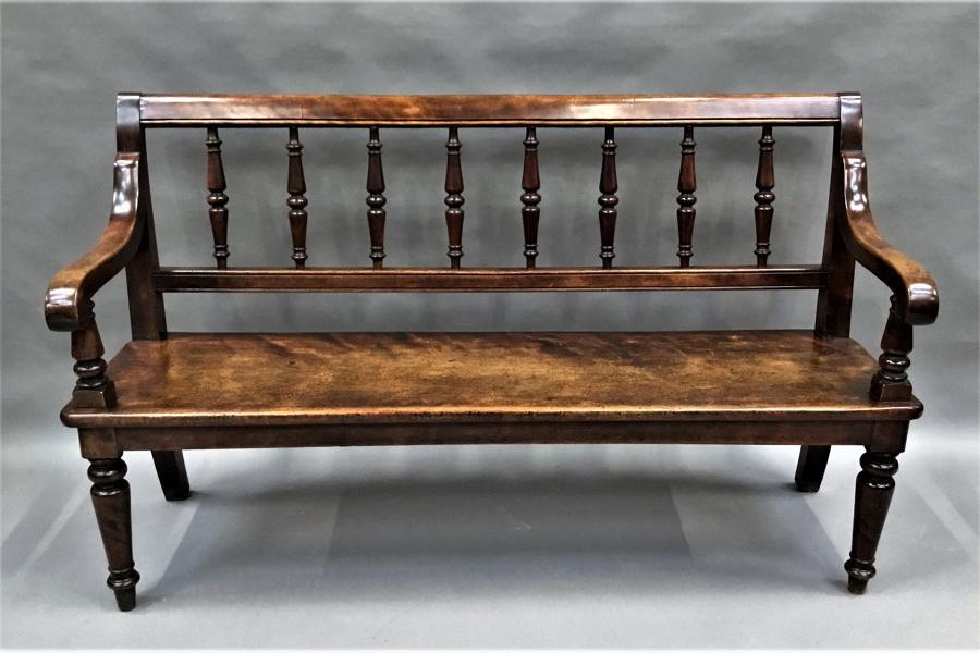 George IV birch hall seat