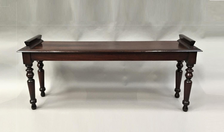 Regency mahogany hall bench