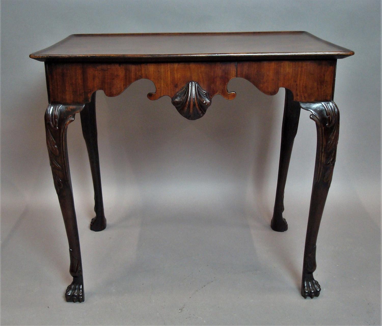 George II Irish mahogany silver table