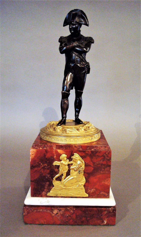 19th bronze statue of Napoleon Bonaparte