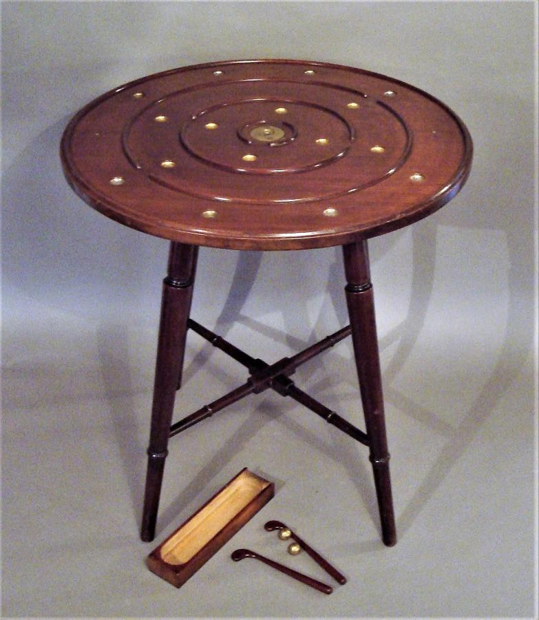C19th mahogany golf game table