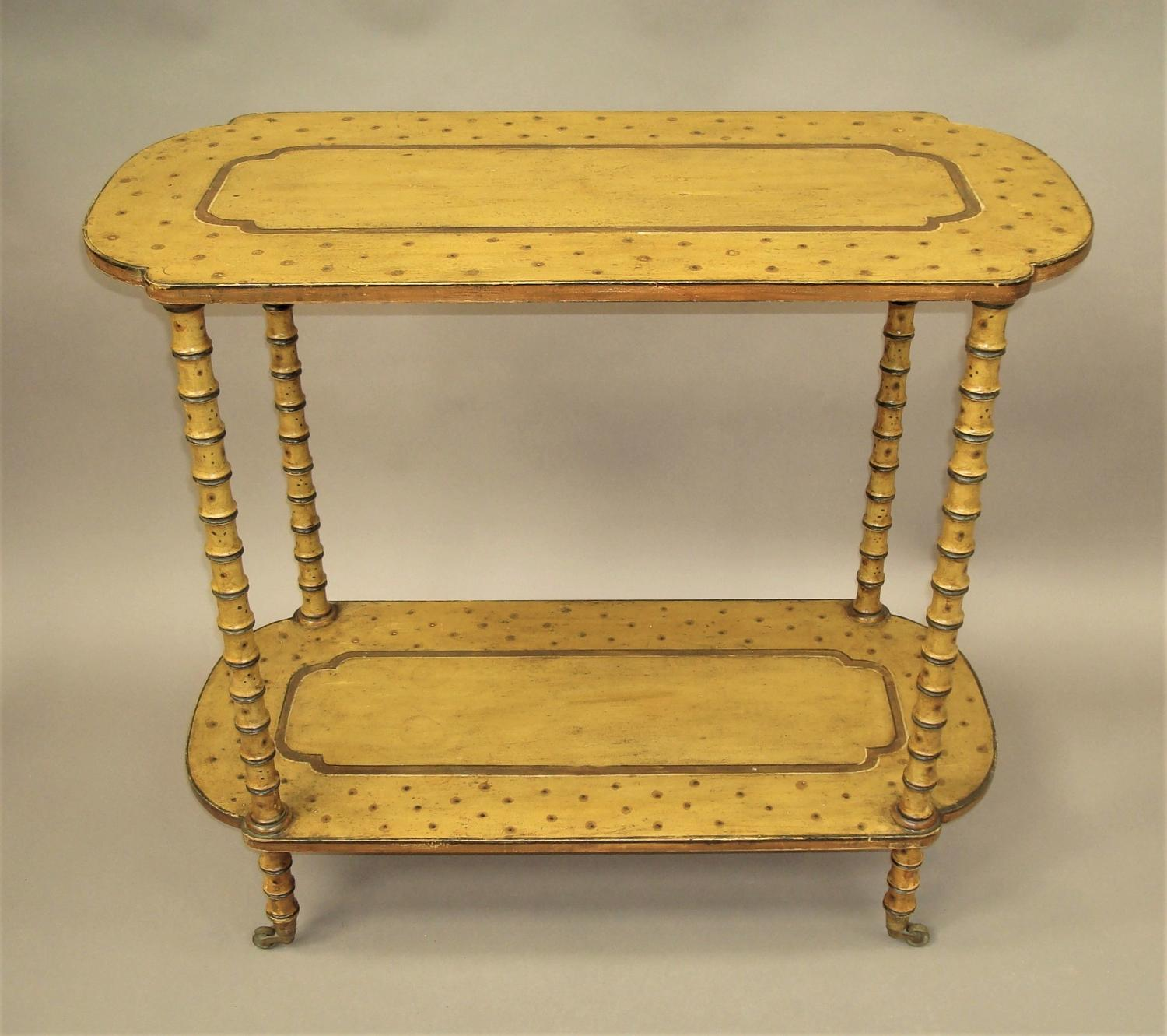 Regency painted faux bamboo centre table