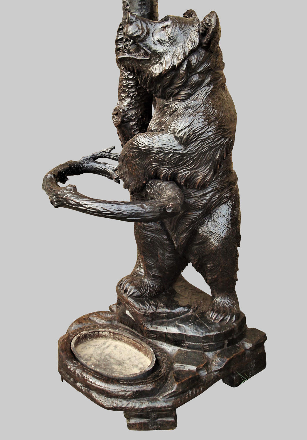 C19th carved bear hall stand