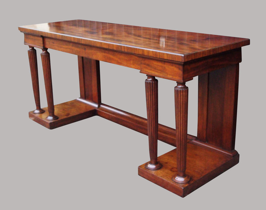 Regency mahogany neo classical side table