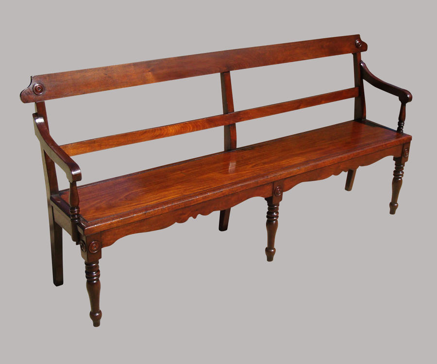 Regency mahogany hall seat